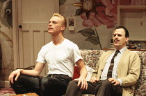 ENTERTAINING MR SLOANE by Joe Orton design: Mark Bailey lighting: Paul Pyant director: Jeremy Sams <br> l-r: Ben Daniels (Mr Sloane), Ian Gelder (Ed) Greenwich Theatre, London SE10 15/02/1993 (c) Dona...