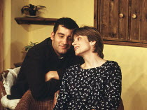 A DAY IN THE DEATH OF JOE EGG by Peter Nichols design: Michael Vale director: Lisa Forrell <br> Clive Owen (Bri), Elizabeth Garvie (Sheila)King's Head Theatre, London N1 08/06/1993(c) Donald Cooper/Ph...