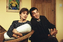 A DAY IN THE DEATH OF JOE EGG by Peter Nichols design: Michael Vale director: Lisa Forrell <br> Elizabeth Garvie (Sheila), Clive Owen (Bri)King's Head Theatre, London N1 08/06/1993(c) Donald Cooper/Ph...
