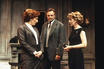 SEPARATE TABLES by Terence Rattigan design: Carl Toms lighting: Alan Burrett director: Peter Hall <br> TABLE BY THE WINDOW - l-r: Charlotte Cornwell (Miss Cooper), Peter Bowles (John Malcolm), Patrici...