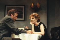 SEPARATE TABLES by Terence Rattigan design: Carl Toms lighting: Alan Burrett director: Peter Hall <br> TABLE BY THE WINDOW: Peter Bowles (John Malcolm), Patricia Hodge (Anne Shankland) The Peter Hall...