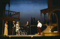 HARLEQUINADE by Terence Rattigan design: Carl Toms lighting: Brian Ridley director: Michael Rudman <br>left: Geraldine McEwan (Edna Selby) centre: Nicky Henson (Jack Wakefield) right: Alec McCowen (Ar...