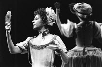 THE PROVOK'D WIFE by Sir John Vanbrugh design: Carl Toms lighting: Robert Bryan director: Peter Wood <br> Dorothy Tutin (Lady Fancyfull) Lyttelton Theatre, National Theatre (NT), London SE1 28/10/1980...