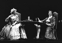 THE PROVOK'D WIFE by Sir John Vanbrugh design: Carl Toms lighting: Robert Bryan director: Peter Wood <br> Geraldine McEwan (Lady Brute), John Wood (Sir John Brute) Lyttelton Theatre, National Theatr...