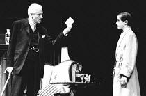 THE WINSLOW BOY by Terence Rattigan design: Carl Toms lighting: Dave Horn director: Michael Rudman <br>l-r: Alan McNaughton (Arthur Winslow), Jason Lake (Ronnie Winslow)Lyric Theatre Hammersmith, Lond...