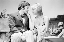 TIME AND TIME AGAIN by Alan Ayckbourn design: Alan Tagg lighting: Mick Hughes director: Eric Thompson <br>Tom Courtenay (Leonard), Cheryl Kennedy (Joan) Comedy Theatre, London SW1 16/08/1972 (c) Donal...