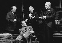 WHEN WE ARE MARRIED by J B Priestley set design: Eileen Diss costumes: Jessica Gwynne lighting: Leonard Tucker director: Robin Lefevre <br> l-r: Harold Innocent (Herbert Soppitt), John Quayle (Gerald...