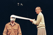 WOUNDS TO THE FACE by Howard Barker design: Yoon Jung-Bae lighting: Ace McCarron director: Stephen Wrentmore <br>~Sean O'Callaghan (Soldier), Laura Cox (Mother) The Wrestling School / Assembly Theatre...