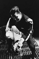 THE POSSIBILITIES by Howard Barker design: Julian McGowan lighting: Mark Ager director: Ian McDiarmid <br> (top) Douglas Hodge, Michael Grandage Almeida Theatre, London N1 25/02/1988 (c) Donald Cooper...