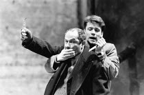 THE POSSIBILITIES by Howard Barker design: Julian McGowan lighting: Mark Ager director: Ian McDiarmid <br> l-r: Nicholas Woodeson, Michael Grandage Almeida Theatre, London N1 25/02/1988 (c) Donald Coo...