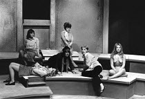 THE DISORDERLY WOMEN by John Bowen <br> rear centre: Joan Heal right: Ann Holloway Hampstead Theatre Club, London NW3 09/11/1970 (c) Donald Cooper/Photostage photos@photostage.co.uk ref/BW-P-295-14