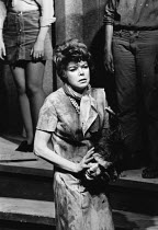 THE DISORDERLY WOMEN by John Bowen <br> Joan Heal (with severed head) Hampstead Theatre Club, London NW3 09/11/1970 (c) Donald Cooper/Photostage photos@photostage.co.uk ref/BW-P-295-6