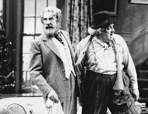 THE MAN WHO CAME TO DINNER by Moss Hart & George S. Kaufman set design: Carl Toms costumes: Alexander Reid lighting: Mark Henderson director: Gene Saks <br> l-r: John Wood (Sheridan Whiteside), Desmo...