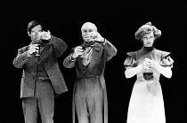 HEDDA adapted by Charles Marowitz from 'Hedda Gabler' by Henrik Ibsen design: Timian Alsaker director: Charles Marowitz <br> l-r: David Firth (Tesman), Denis Holmes (Judge Brack), Jenny Agutter (Hedda...