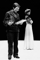 HEDDA adapted by Charles Marowitz from 'Hedda Gabler' by Henrik Ibsen design: Timian Alsaker director: Charles Marowitz <br> l-r: Ann Tirard (Aunt Rena), Jenny Agutter (Hedda Gabler) Roundhouse, Londo...