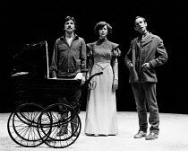 HEDDA adapted by Charles Marowitz from 'Hedda Gabler' by Henrik Ibsen design: Timian Alsaker director: Charles Marowitz <br> l-r: Frank Grimes (Eilert Loevberg), Jenny Agutter (Hedda Gabler), David Fi...
