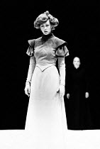 HEDDA adapted by Charles Marowitz from 'Hedda Gabler' by Henrik Ibsen design: Timian Alsaker director: Charles Marowitz <br> Jenny Agutter (Hedda Gabler) Roundhouse, London NW1 06/08/1980 (c) Donald C...
