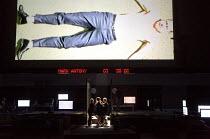 ROMAN TRAGEDIES - ANTONY AND CLEOPATRA adapted from Shakespeare set design and lighting: Jan Versweyveld costumes: Lies van Assche video: Tal Yarden director: Ivo van Hove <br> below centre: Cleopatra...