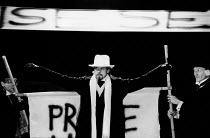 THE POSSESSED by Fyodor Dostoyevsky design: Stefanos Lazaridis director: Yuri Lyubimov <br> Nigel Terry (Nicholas Stavrogin) Almeida Theatre, London N1 21/03/1985 (c) Donald Cooper/Photostage photos@...