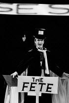 THE POSSESSED by Fyodor Dostoyevsky design: Stefanos Lazaridis director: Yuri Lyubimov <br> Clive Merrison (Stepan Trofimovich Verkhovrnsky / Karmazinov) Almeida Theatre, London N1 21/03/1985 (c) Don...