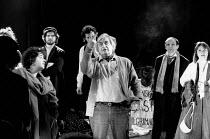 THE POSSESSED by Fyodor Dostoyevsky design: Stefanos Lazaridis director: Yuri Lyubimov <br> centre: Yuri Lyubimov rehearsing on stage with members of the cast Almeida Theatre, London N1 21/03/1985 (c)...