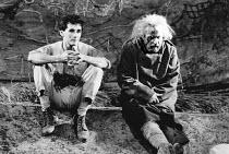 LEAR by Edward Bond after Shakespeare's 'King Lear' design: Kit Surrey lighting: Leo Leibovici fights: Malcolm Ranson director: Barry Kyle <br> l-r: Mark Rylance (The Gravedigger's Boy), Bob Peck (Lea...