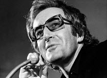 Peter Sellers speaking at CINEMA CITY at the Roundhouse, London NW1 October 1970 <br> (c) Donald Cooper/Photostage photos@photostage.co.uk ref/BW-P-161-20