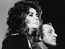 Elizabeth Taylor and Richard Burton photographed at CINEMA CITY at the Roundhouse, London NW1 October 1970 <br> (c) Donald Cooper/Photostage photos@photostage.co.uk ref/BW-P-102-31