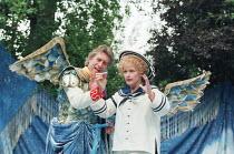 A MIDSUMMER NIGHT'S DREAM by Shakespeare design: James Merifield lighting: Jason Taylor director: John Doyle <br>~Brian Protheroe (Oberon), Toyah Willcox (Puck) Open Air Theatre, Regent's Park, London...