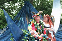 A MIDSUMMER NIGHT'S DREAM by Shakespeare design: James Merifield lighting: Jason Taylor director: John Doyle <br> Robert Lang (Bottom), Harriet Thorpe (Titania) Open Air Theatre, Regent's Park, Londo...