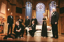 AND THEN THERE WERE NONE by Agatha Christie design: Robert Jones lighting: Jason Taylor director: Kenneth Alan Taylor <br> rear left, from left: Geoffrey Davies (Philip Lombard), Miriam Karlin (Emily...
