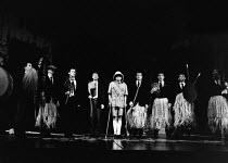 MUMBO JUMBO by Robin Glendinning design: Mark Thompson lighting: Mark Henderson director: Nicholas Hytner <br> rehearsing 'Mumbo Jumbo' - centre: Alan MacNaughtan (The Dean) to his right: Michael Gra...