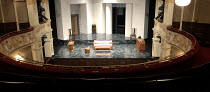 BITTER WHEAT written and directed by David Mamet design: Christopher Oram lighting: Neil Austin <br> view from the rear of the dress circle showing the stage and set Garrick Theatre, London WC2 19/06/...