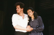 DESIRE UNDER THE ELMS by Eugene O'Neill design: Joe Vanek lighting: Mick Hughes director: Patrick Mason <br>Colin Firth (Eben), Carmen du Sautoy (Abbie)Greenwich Theatre, London SE10 11/05/1987 (c) Do...