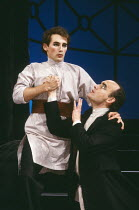 THE WANDERING JEW by Michelene Wandor & Mike Alfreds adapted from the novel by Eugene Sue design & lighting: Paul Dart director: Mike Alfreds <br> l-r: Mark Rylance, Pip Donaghy Lyttelton Theatre, Nat...