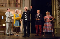 NOISES OFF by Michael Frayn design: Max Jones lighting: Amy Mae fights: Rachel Bown-Williams & Ruth Cooper-Brown director: Jeremy Herrin <br> l-r: Daniel Rigby (Garry Lejeune, as Roger Tramplemain), M...