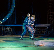 A MIDSUMMER NIGHT'S DREAM by Shakespeare design: Rachael Canning lighting: Ben Ormerod movement: Emily-Jane Boyle director: Dominic Hill <br> Michael Elcock (Lysander), Remy Beasley (Helena) Open Ai...