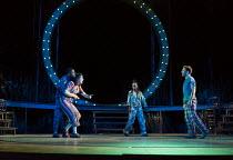 A MIDSUMMER NIGHT'S DREAM by Shakespeare design: Rachael Canning lighting: Ben Ormerod movement: Emily-Jane Boyle director: Dominic Hill <br> l-r: Michael Elcock (Lysander), Remy Beasley (Helena), Ga...