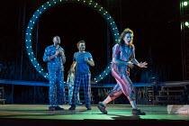 A MIDSUMMER NIGHT'S DREAM by Shakespeare design: Rachael Canning lighting: Ben Ormerod movement: Emily-Jane Boyle director: Dominic Hill <br> l-r: Michael Elcock (Lysander), Pierro Niel-Mee (Demetriu...