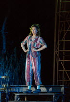A MIDSUMMER NIGHT'S DREAM by Shakespeare design: Rachael Canning lighting: Ben Ormerod movement: Emily-Jane Boyle director: Dominic Hill <br> Remy Beasley (Helena) Open Air Theatre, Regent's Park, L...