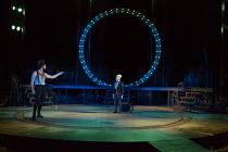 A MIDSUMMER NIGHT'S DREAM by Shakespeare design: Rachael Canning lighting: Ben Ormerod movement: Emily-Jane Boyle director: Dominic Hill <br> Kieran Hill (Oberon), Myra McFadyen (Puck) Open Air Theat...