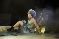 A MIDSUMMER NIGHT'S DREAM by Shakespeare design: Rachael Canning lighting: Ben Ormerod movement: Emily-Jane Boyle director: Dominic Hill <br> Amber James (Titania), Susan Wokoma (Bottom) Open Air Th...