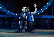 A MIDSUMMER NIGHT'S DREAM by Shakespeare design: Rachael Canning lighting: Ben Ormerod movement: Emily-Jane Boyle director: Dominic Hill <br> Myra McFadyen (Puck), Kieran Hill (Oberon) Open Air Theat...
