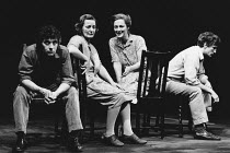 SMALL CHANGE written & directed by Peter Gill set design: William Dudley costumes: Alison Chitty lighting: Stephen Wentworth <br> l-r: James Hazeldine (Gerard), June Watson (Mrs Harte), Maggie Steed (...