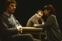 KICK FOR TOUCH written & directed by Peter Gill design: Alison Chitty lighting: Stephen Wentworth <br> l-r: James Hazeldine (Jim), Kenneth Cranham (Joe), Jane Lapotaire (Eileen) Cottesloe Theatre, Nat...