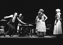 THE MERRY-GO-ROUND by D.H.Lawrence adapted & directed by Peter Gill set design: William Dudley costumes: Sue Plummer <br> centre right: Marjorie Yates Royal Court Theatre, London SW1 08/11/1973 (c) Do...