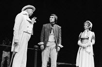 THE FOOL by Edward Bond design: William Dudley lighting: Andy Phillips director: Peter Gill <br> l-r: Bill Fraser (Admiral Lord Radstock), Tom Courtenay (John Clare), Isabel Dean (Mrs Emmerson) Royal...