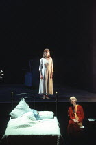 MOONLIGHT by Harold Pinter design: Bob Crowley lighting: Rick Fisher director: David Leveaux <br>l-r: (asleep, in bed) Ian Holm (Andy), Claire Skinner (Bridget), Anna Massey (Bel)an Almeida Theatre pr...