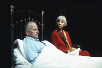 MOONLIGHT by Harold Pinter design: Bob Crowley lighting: Rick Fisher director: David Leveaux <br>Ian Holm (Andy), Anna Massey (Bel)Almeida Theatre, London N1 07/09/1993 (c) Donald Cooper/Photostage ph...