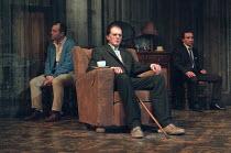 THE HOMECOMING by Harold Pinter design: William Dudley lighting: Hugh Vanstone director: Roger Michell <br> l-r: Keith Allen (Teddy), David Bradley (Max), Eddie Marsan (Joey) Lyttelton Theatre, Nation...